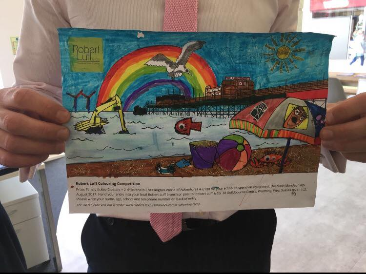 Tyler's colouring competition entry